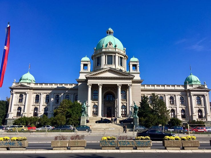 L'assemblea Nazionale della Serbia a Belgrado, foto di Agostino Ciciriello